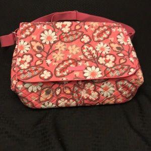 NWT Vera Bradley Laptop Messenger Bag-Pink Blush